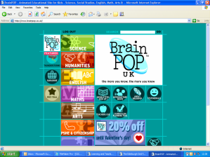 BrainPOP UK Website